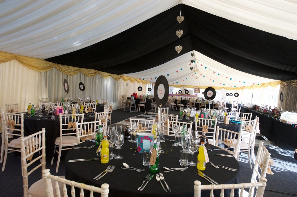 27 x 9m wedding marquee