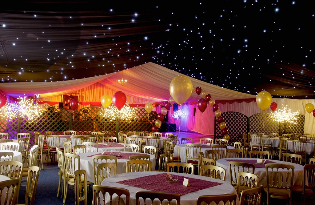 70 x 17m ' inside marquee'