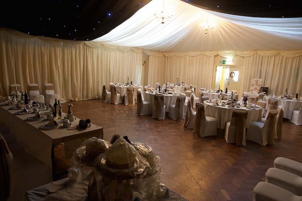 'Inside' weding marquee